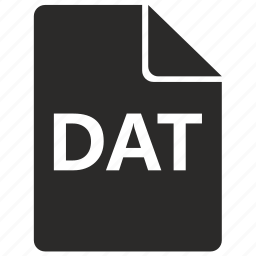 dat, file, format icon