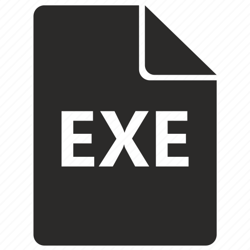 document, exe, file, format, program icon