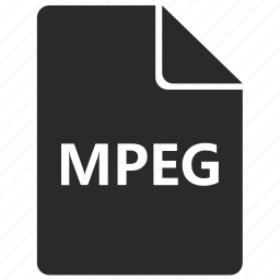 codec, document, file, format, mpeg, video icon