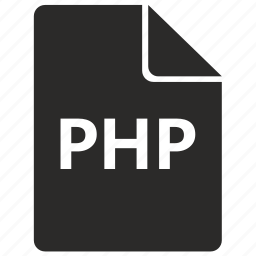 document, file, format, php, programming, web icon