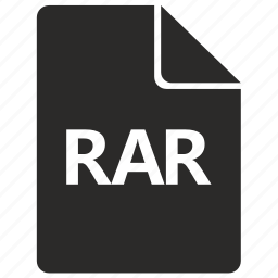 compress, document, file, format, rar icon