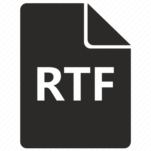 file, format, rich, rtf, text icon