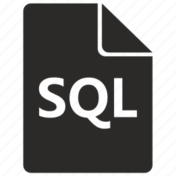 document, file, format, sql, table icon