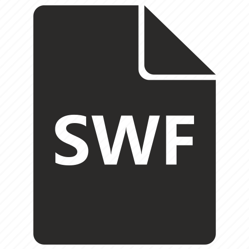 file, flash, format, swf icon