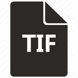document, file, format, tif icon