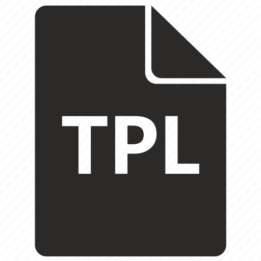 document, file, format, tpl icon