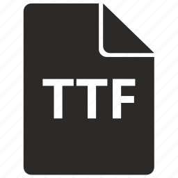 document, file, font, format, ttf icon