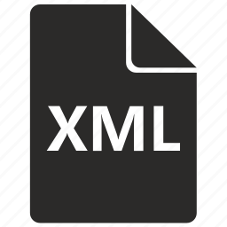 document, file, format, xml icon