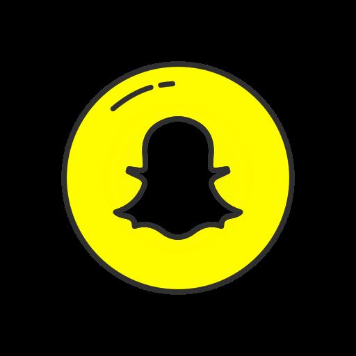 Ghost, mobile app, snapchat, snapchat logo icon