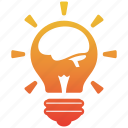bulb, creative, creativity, design, fresh, idea, light icon
