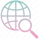 find, global, magnifier, marketing, search, web, zoom icon