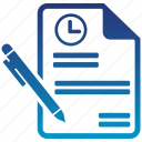 agreement, business, contract, internet, long, marketing, term icon