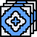country, europe, nation, portugal, tiles icon