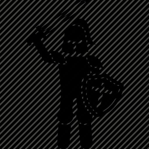 knight, medieval, shield, sword, valiant, war icon