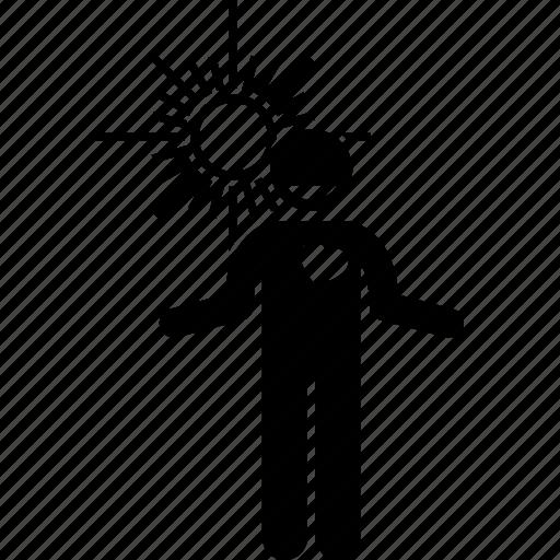 character, day, friendly, happy, man, sun, warm icon