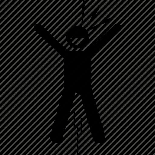 euphoria, joy, jumping, lively, man, person icon