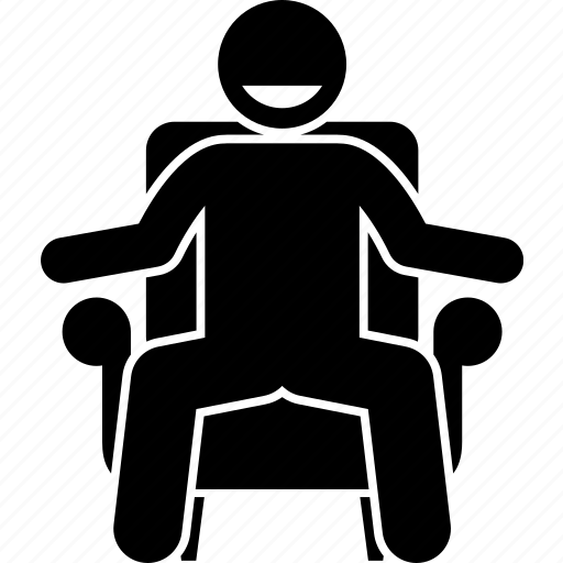 chair, man, negotiable, negotiate, negotiation, sitting icon