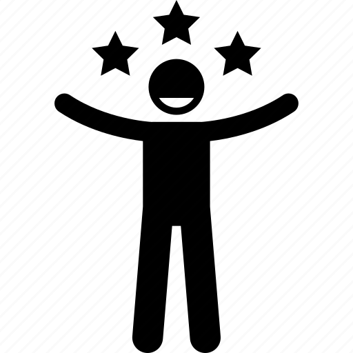 man, person, popular, star icon