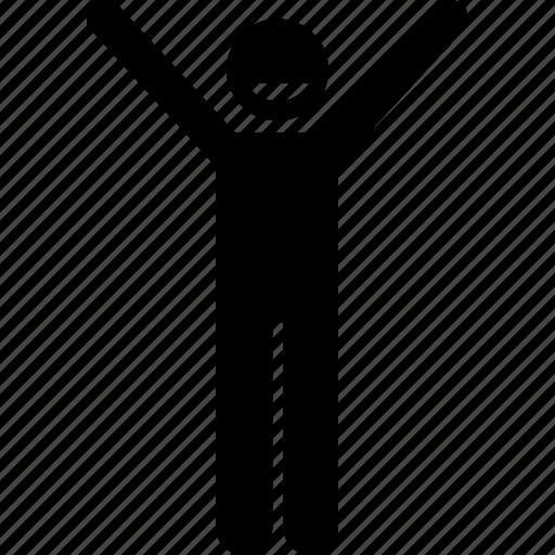 stick figure, stickman, success, successful icon
