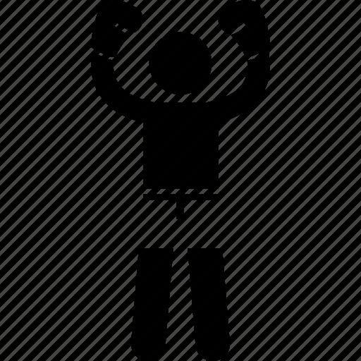 boxer, fit, strong, tough icon
