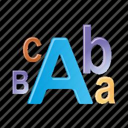 alfabet, document, file, font, format, text icon