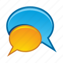 bubble, bubbles, communication, message, talk icon