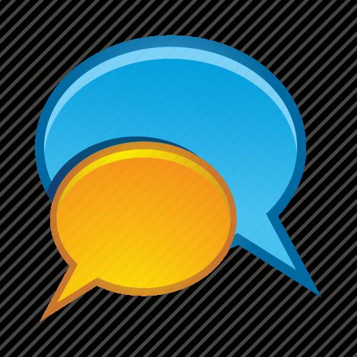 bubble, bubbles, communication, message, talk icon