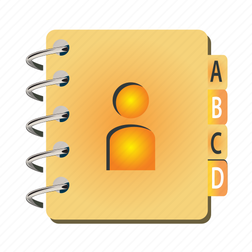 address, book, bookmark, document, name, notebook icon