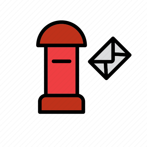 envelope, mail, mailbox, office, post, postbox, service icon
