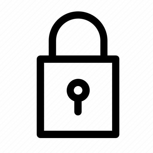 delivery, icons, lock, post, postage, safety, security icon