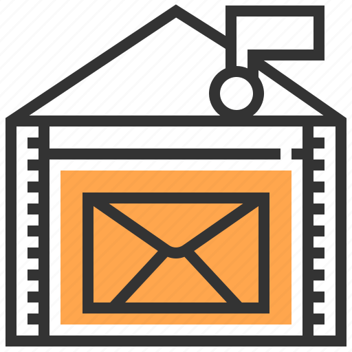 email, letter, mail, post, postage, postal, postman icon