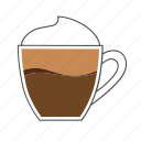 beverage, coffee, cup, drink, hot, macchiato, morning icon