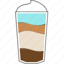 beverage, caramel, coffee, cup, drink, macchiato, morning icon