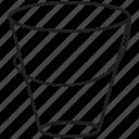 line, pots, rbucket, wate, watshing icon