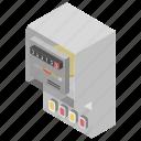 electric meter, electricity meter, kwh meter, meter, smart meter icon