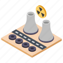 electric station, energy plant, power generator, power plant, power station icon