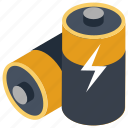 battery, cells, lithium cell, powercell, rechargeable cell icon