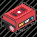 diesel generator, electric generator, generator, portable generator, power generator icon