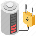 battery charging, battery recharger, cell charging, charging plug, rechargeable battery icon