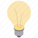 bulb, electric bulb, fluorescent bulb, light bulb, lighted bulb icon