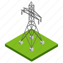 electric tower, electric transmission, electricity tower, power tower, transmission tower icon