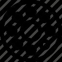bearing, circles, friction, machine, part, rotate icon