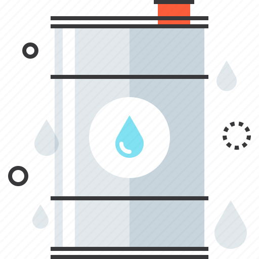 barrel, container, energy, fuel, industry, oil, petrol icon