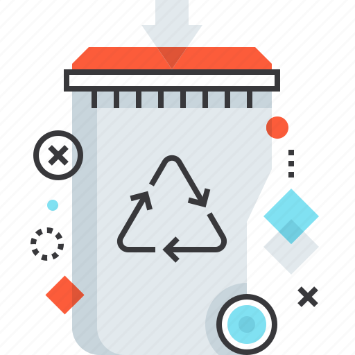 Bin, garbage, recycle, recycling, reduction, trash, waste icon - Download on Iconfinder