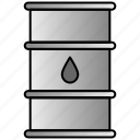 barrel, fuel, oil, petrol, roll, tank icon