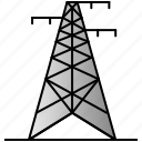 eco, economic, energy, power, pylon icon