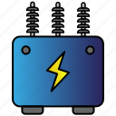 eco, economic, energy, power, transformer icon