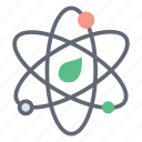 atom molecule, atomic energy, atomic power, atoms orbits, molecular energy, nuclear physics icon