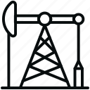 drill, energy, industry, oil, oil pump, pump, transport icon