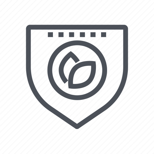 nature, plant, protection, security, shield icon